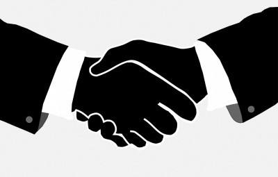 Business deal: Handshake
