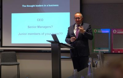 corporate social responsibility at thought leaders event